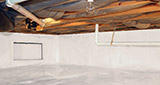 Crawl space moisture control and structural repair in Iowa