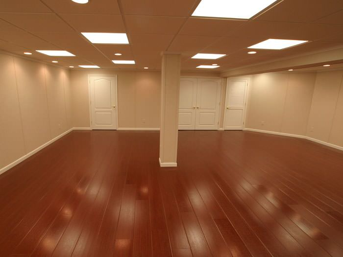 Wood Laminate Basement Floor Finishing Warranted