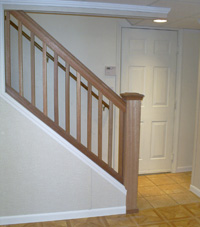 Renovated basement staircase in Palmyra