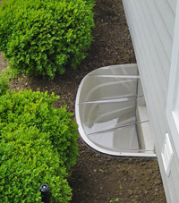 basement egress window well in Rushville