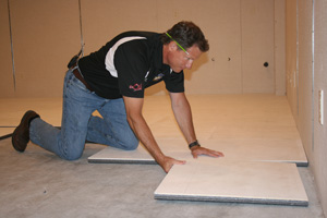 Installing ThermalDry® insulated floor decking in Quincy