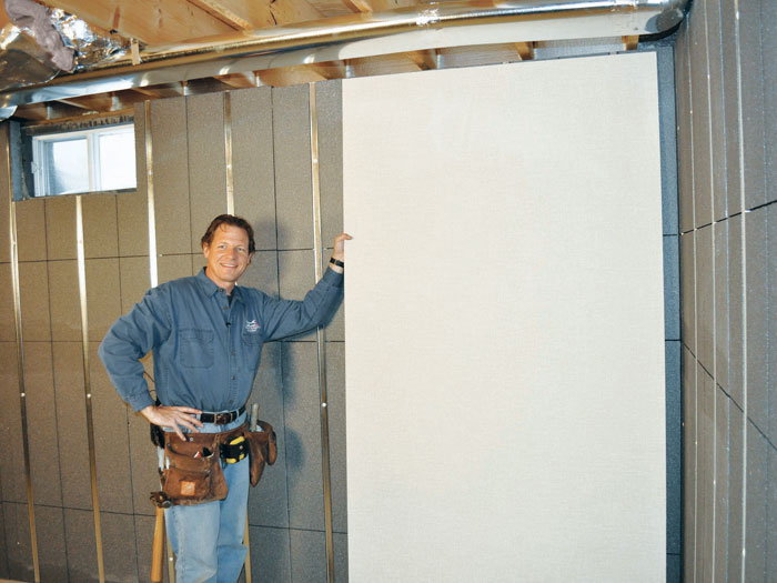 ... We Recommend Installing Durable, Inorganic EverLast™ Wall Panels On Top  Of Our Basement To ...