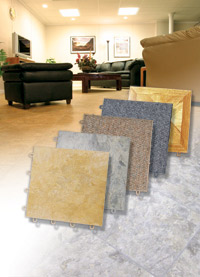 Basement Flooring in a home in Peoria, Illinois, Iowa, and Missouri