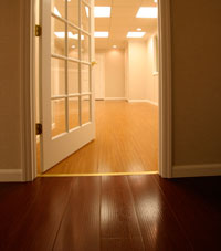 Basement Wood Flooring installed in Palmyra, Illinois, Iowa, and Missouri