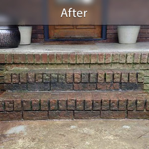 Sinking stairs repaired with PolyLevel® Quincy