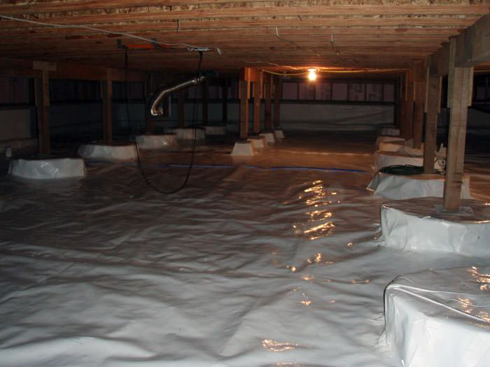A Very Large, Sealed, And Waterproofed Crawl Space In Keokuk.