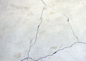 cracks in a slab floor consistent with slab heave in Colchester.