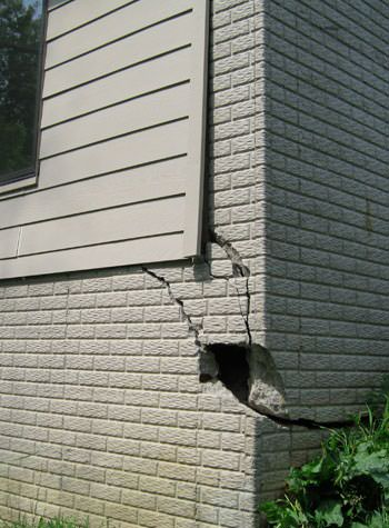 severe cracking of structural walls in West Burlington