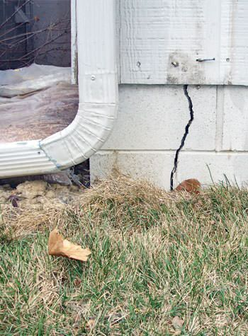 foundation wall cracks due to street creep in Liberty