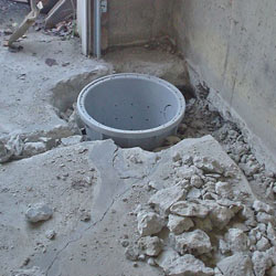 Placing a sump pit in a Memphis home