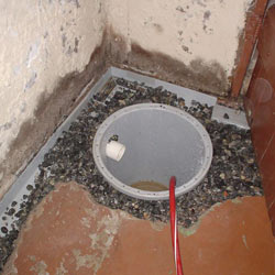 Installing a sump in a sump pump liner in a Kirksville home