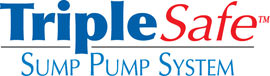 Sump pump system logo for our TripleSafe™, available in areas like La Harpe