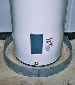 An old water heater in Camp Point, IL, IA, and MO with flood protection installed