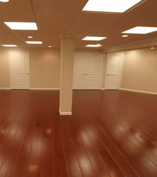 Rosewood faux wood basement flooring for finished basements in Quincy