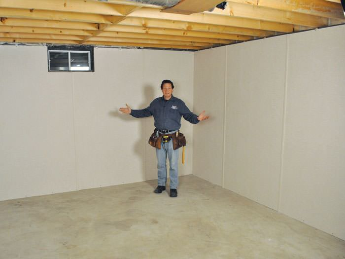 ... Palmyra Basement Insulation Covered By EverLast™ Wall Paneling, With  SilverGlo™ Insulation Underneath