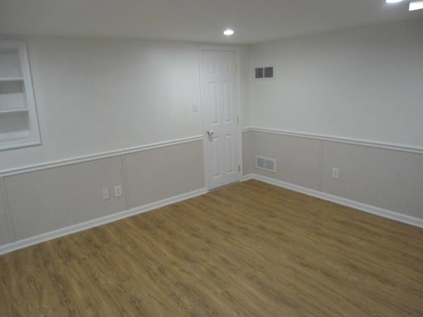 a bright white washable basement wall covering that does not adhere to the walls and resists mold & rot for West Point homeowners