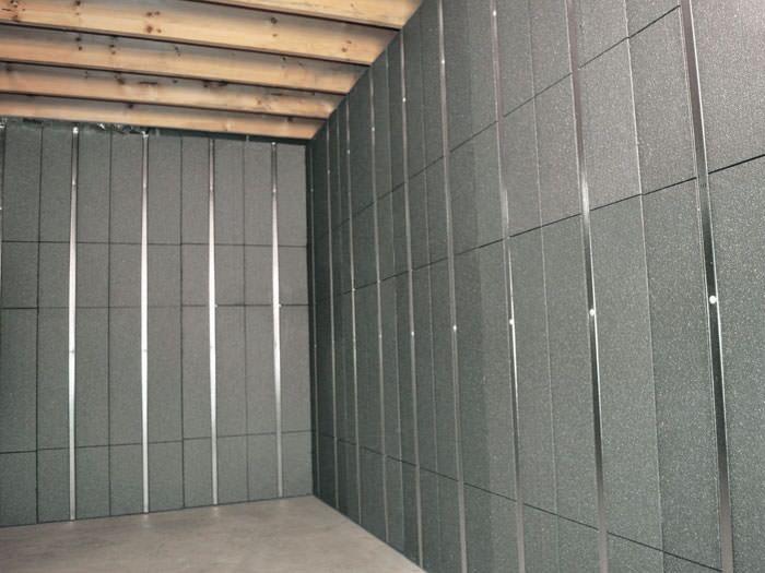 styrofoam basement walls
