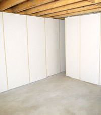 Unfinished basement insulated wall covering in West Burlington, Illinois, Iowa, and Missouri