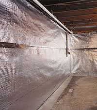 Radiant heat barrier and vapor barrier for finished basement walls in West Burlington, Illinois, Iowa, and Missouri